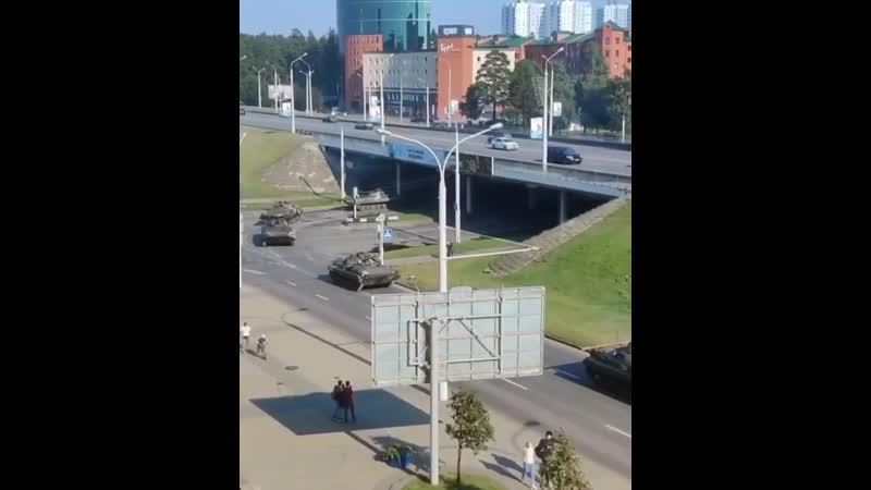 БТРы в Минске