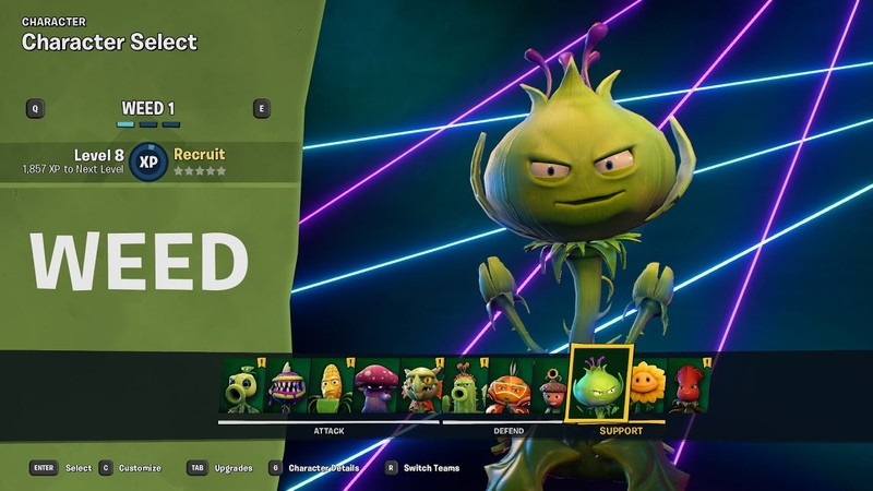Made Weed a playable character in Plants vs Zombies Battle for Neighborville