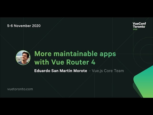 More maintainable apps with Vue Router 4 - Eduardo San Martin Morote