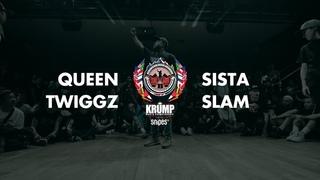 Queen Twiggz vs Sista Slam   Female Preselection Round   EBS Krump 2019
