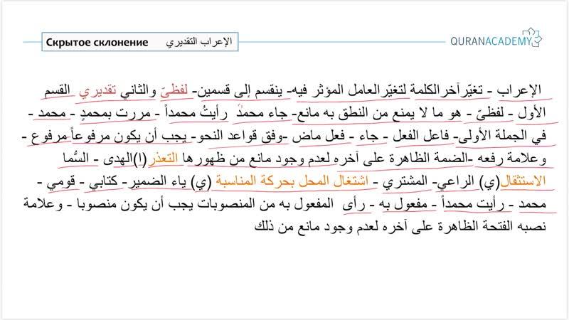 Грамматика арабского языка I Скрытое склонение Часть 1