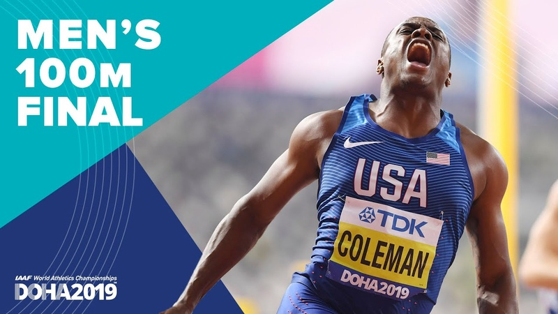 Men's 100m Final World Athletics Championships Doha 2019