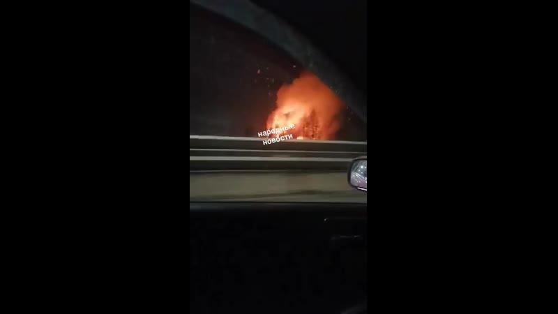 Склад пиломатериалов горел в выходные в Падуне
