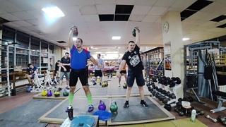 Гиревой Марафон Толчок гири 60 минут 28 кг Иван Денисов и Михаил Никольский