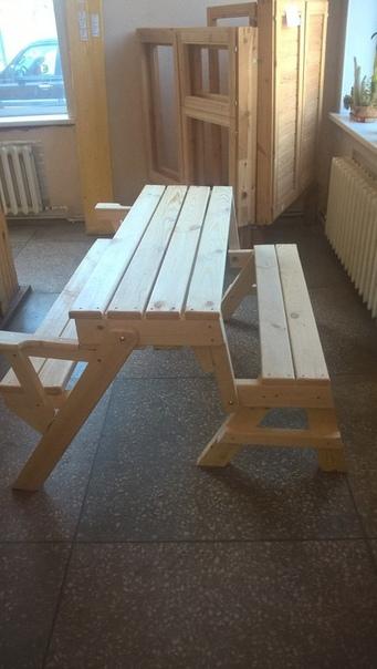 Чертежи стола-скамейки своими руками. Азбука_цветовода_идеи