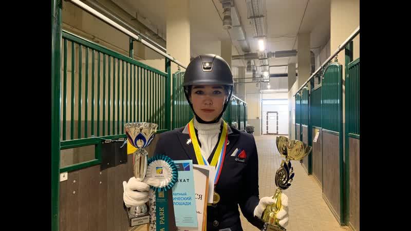 Камила Байгулова победитель юниорского круга Финала MAXIMA PARK