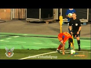 Worst Corner kick EVER!!! Aras Ozbiliz (Armenia) v Denmark