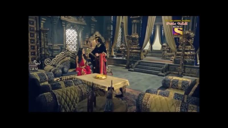 25 Ашиш Шарма и Сонарика Бхадория в сериале Притхви Валлабха Индия 25 серия