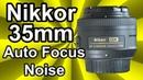 Nikkor 35mm Auto Focus Noise Nikon D3200 ME 1 Microphone AF F f 1 8G Lens Demonstration Video Test