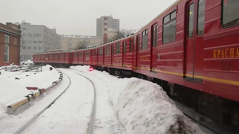 81 717 5М 714 5М Номерной Красная Стрела Выезд из Электродепо Северное