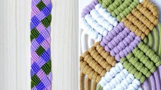 Colorful Macrame Basket Weave Pattern | Bracelet Tutorial