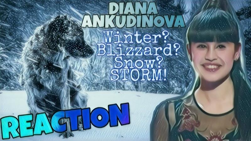 Диана Анкудинова Diana Ankudinova Вьюга Winter Snow Storm REACTION