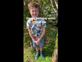 A not so little anymore Theo wishing a Happy Birthday to his uncle Niall! - - Hes so big now.mp4