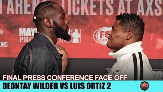 DEONTAY WILDER VS. LUIS ORTIZ 2 - FULL FACE OFF FINAL PRESS CONFERENCE - MGM GRAND