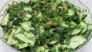 БЕРИ Огурцы и ДЕЛАЙ салат на ужин! Огуречный салат за минутку