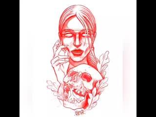 k8mar_tattoo создание тату эскиза