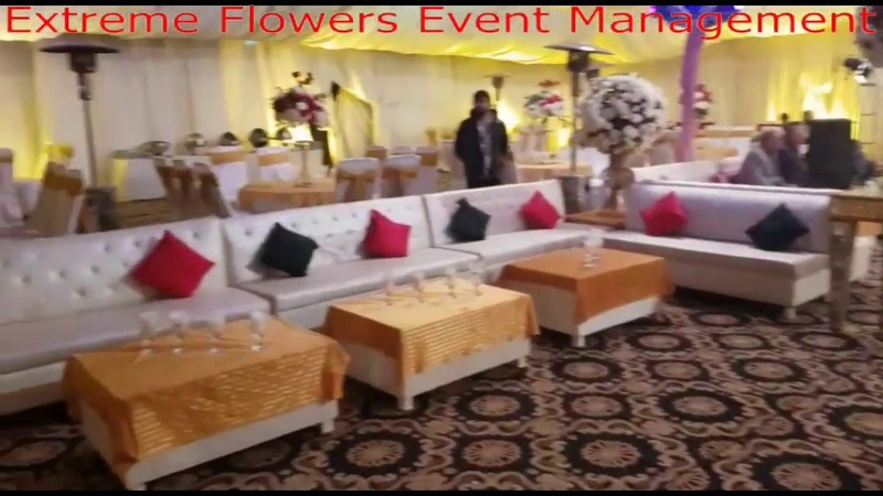 Beautiful Wedding Stage Background Hall Decoration Ideas by Extreme Flowers Event Management