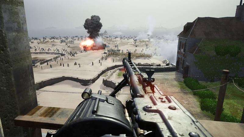 Post Scriptum Day of Days MG42 vs Utah Beach Invasion ENG Comms