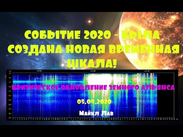 СОБЫТИЕ 2020 БЫЛА СОЗДАНА НОВАЯ ВРЕМЕННАЯ ШКАЛА ** 💜* МАЙКЛ ЛАВ
