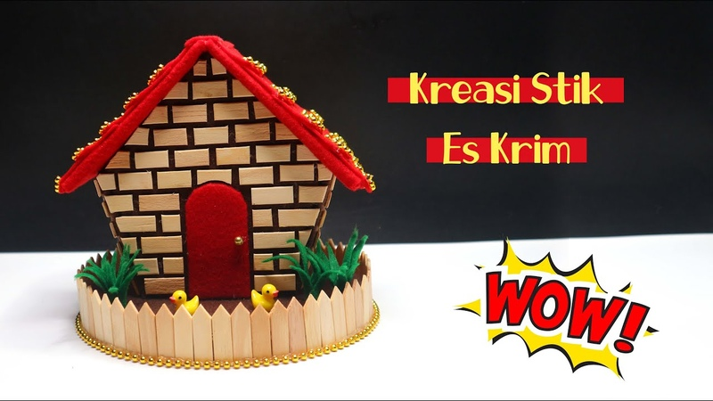 Ide kreatif Stik Es Krim Tempat permen stik es krim Popsicle stick craft Ice cream stick craft