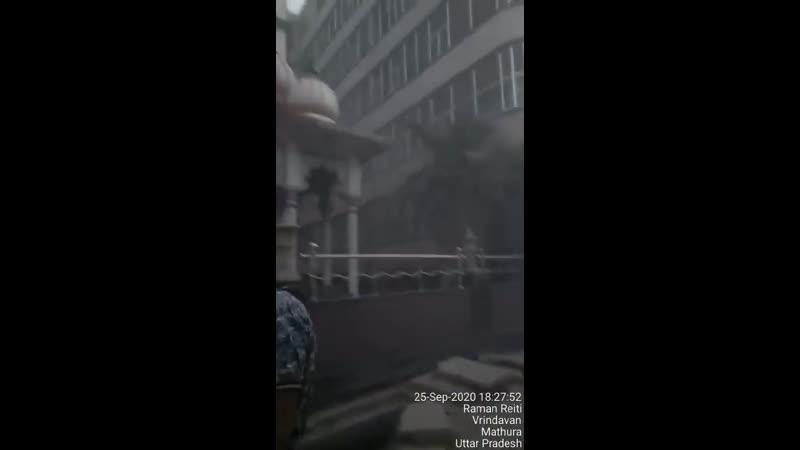 Большой пожар в Русском доме во Вриндаване