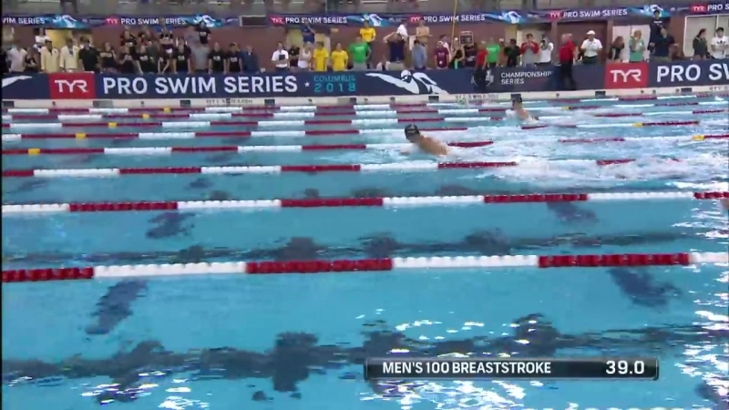 Men's 100m Breast A Final _ 2018 TYR Pro Swim Series - Columbus