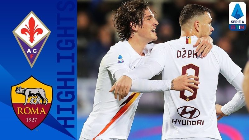 Fiorentina 1 4 Roma Dzeko Kolarov and Zaniolo Score in Comfortable Win Serie A TIM