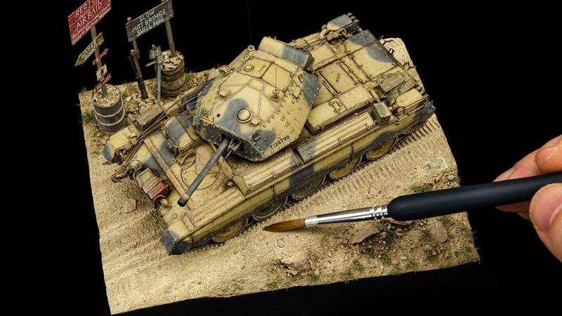 My Best Diorama So Far Not Really a Dio But You Know Crusader Mk3 Tamiya 1 48