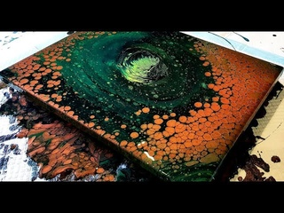 #463 Metallic Copper Pearl Pour Using Extreme Sheen Paint