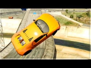 "GTA 5 Funny Moments - ESCAPE FROM THE GTA 5 KOPS! - ""GTA V Online Stunts"""