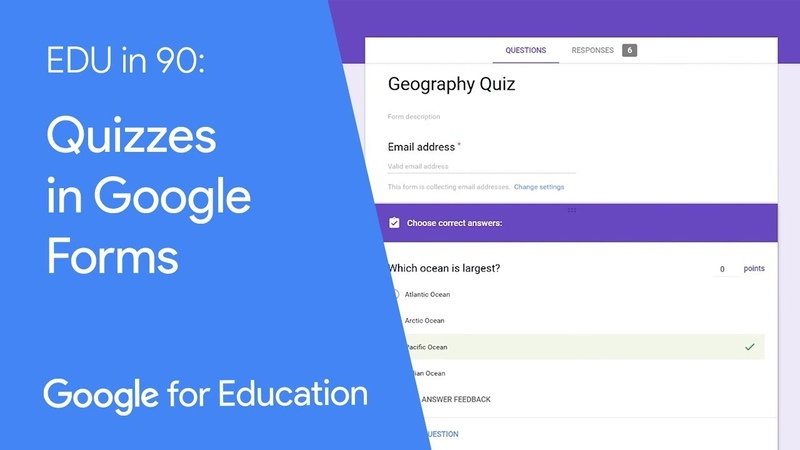 EDU in 90 Quizzes in Google Forms