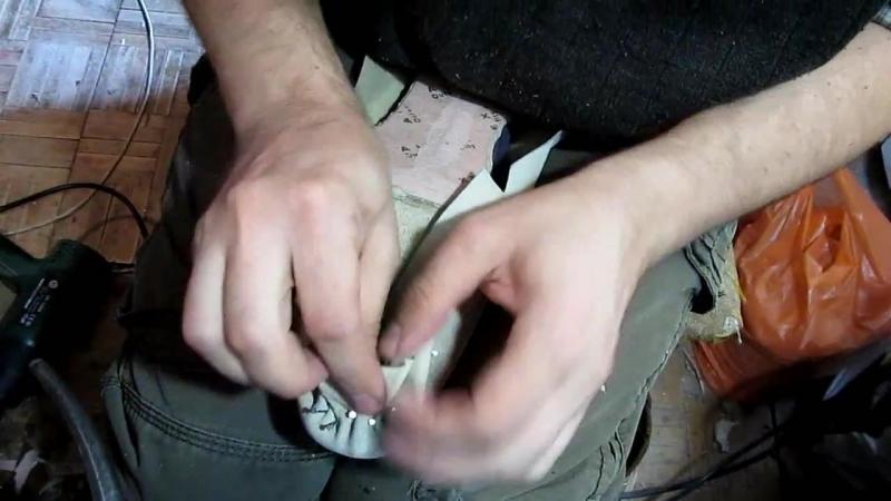 Егор Букраев Д 16. Затяжка подкладки часть 1. Туфли своими руками.