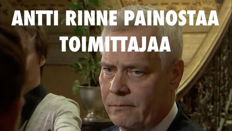 Antti Rinne painostaa Ylen toimittajaa