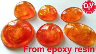 Янтарь из эпоксидной смолы своими руками / amber from epoxy resin