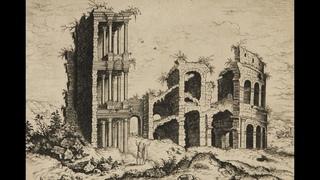 """20 лет после потопа город Рим в руинах. Гравюры."""" Иероним Кок """""""