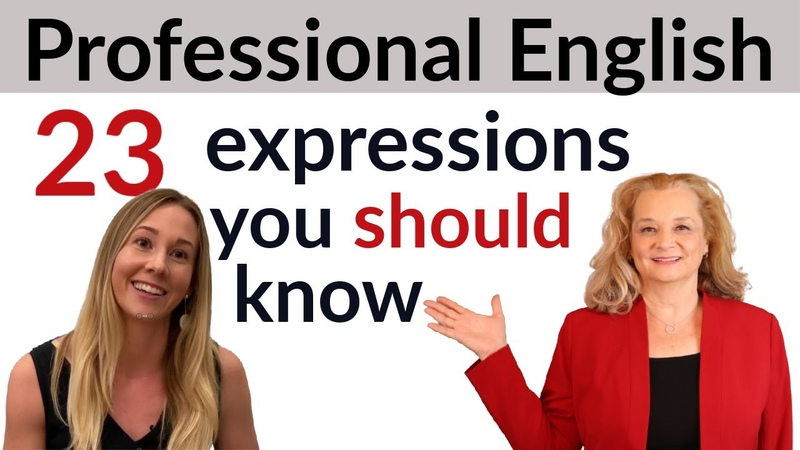Learn Professional English Expressions For Fluent English