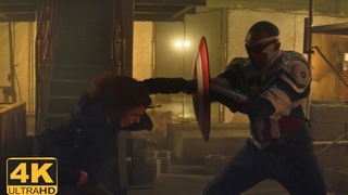 Falcon (Captain America) Saves Sharon from Karli [4K] | Falcon & Winter Soldier 1x06 Final Episode