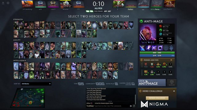 Miracle doto on Twitch