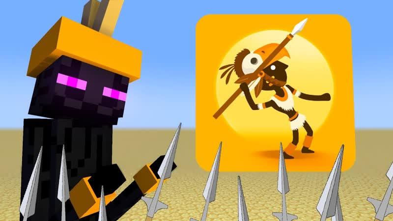 Школа монстров ЖИЗНЬ БОЛЬШОГО ОХОТНИКА КОНЕЧНИКА Minecraft Animation