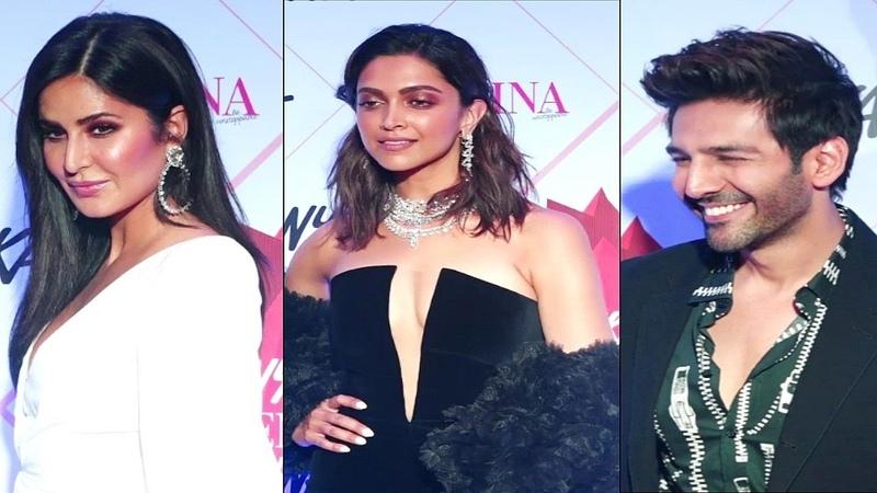 Katrina Kaif Deepika Padukone And Kartik Aaryan At Femina Beauty Awards 2020