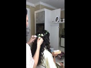 Создание свадебного венка и образа для Юли