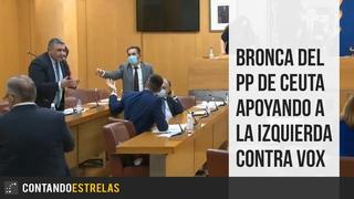 Bronca del PP de Ceuta apoyando a la izquierda contra Vox