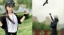 Wow amazing girl use slingshot like pro,slingshot skill,slingshot shooting part 28