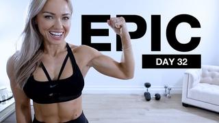 Day 32 of EPIC   Obliques & Shoulder Workout with Dumbbells