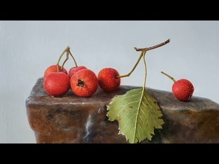 """Classical Still Life oil painting""""Red fruit"""""""