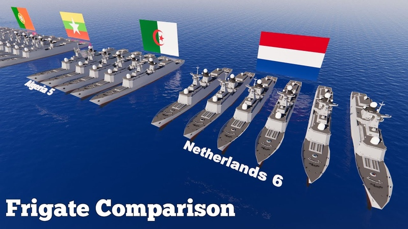 Frigate Warship Fleet Strength by Country 2020 Military Power Comparison 3D