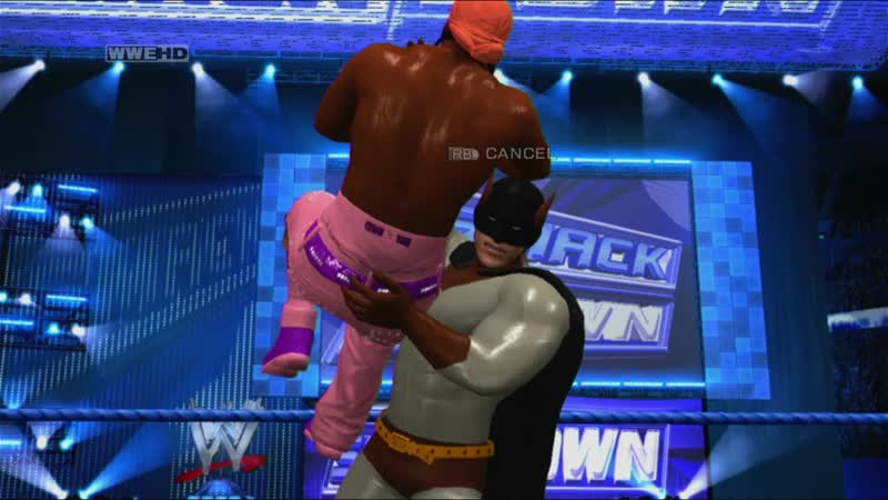 WWE SmackDown vs Raw 2011 Die Fledermaus vs nigger jtg Летучий Мыш против ниггера в одной штанение Качество 11DeadFace