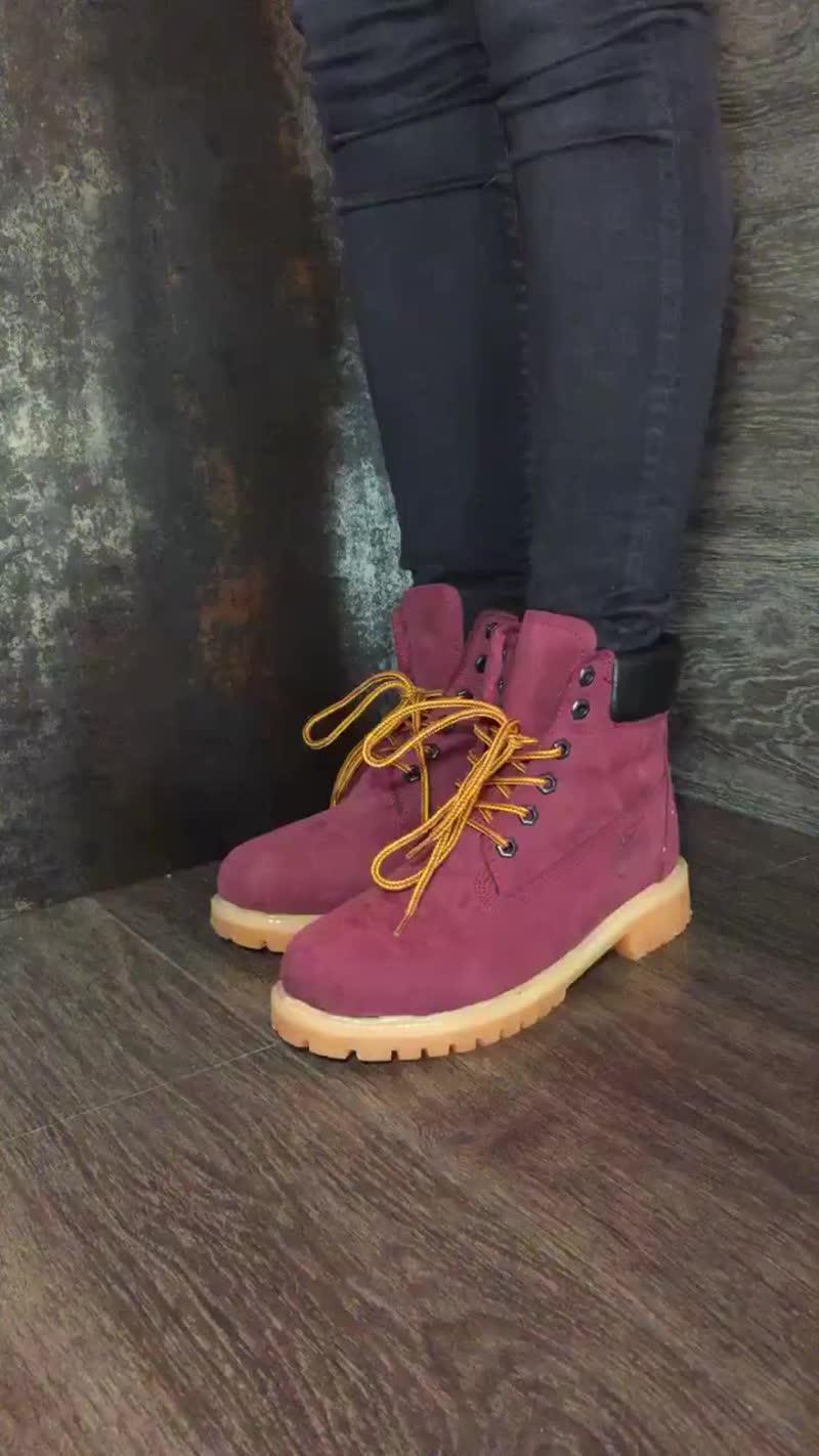 Высокие ботинки из коллекции Timberland