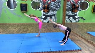 Упражнение на растяжку. Гимнастика Дети 5-7 лет