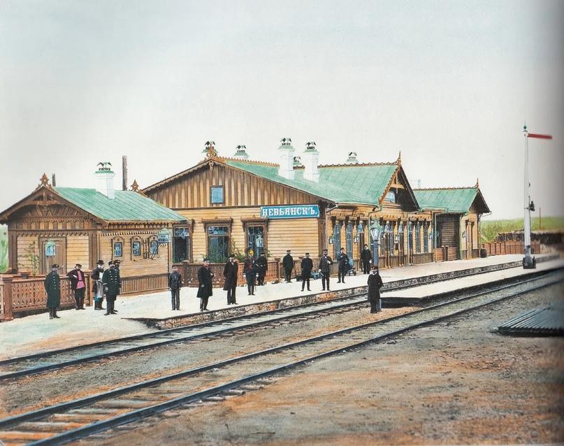 Первозданная железнодорожная Россия в цвете эпохи царской Империи глазами неизвестного фотографа, изображение №13